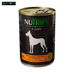Nutripe纽萃宝犬用三文鱼罐头390g(鲜草羊肚系列)